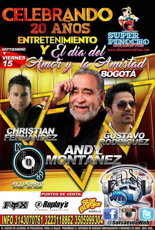 ► Andy Montañez, Christian Fernandez y Gustavo Rodriguez en Concierto