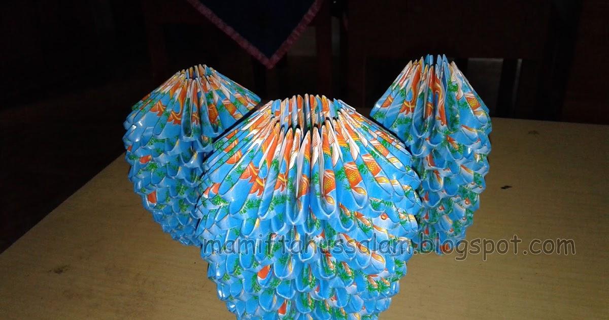 Cara Membuat Vas Bunga Dari Kertas Sampah Karya Siswa Ma Miftahussalam Ma Miftahussalam
