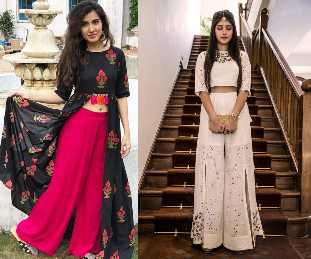 f4e4f857ef8 If you thought the breezy summer favourite palazzo are not for weddings  then think again! Indo western fusion ethnic outfits with palazzos are a  rage these ...