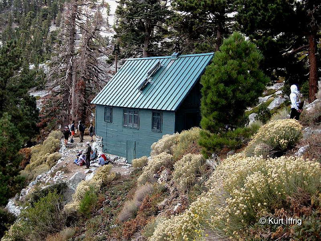 This is the San Antonio (Sierra Club) Ski Hut, built in 1937 and maintained by volunteers.