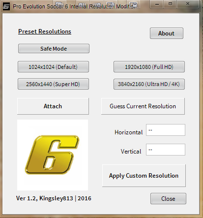 PES 6 Internal Resolution Modifier Tool