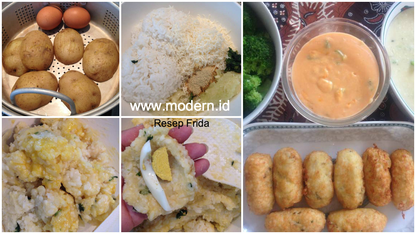 Resep Kroket Nasi Saus Keju Brokoli Modern Id
