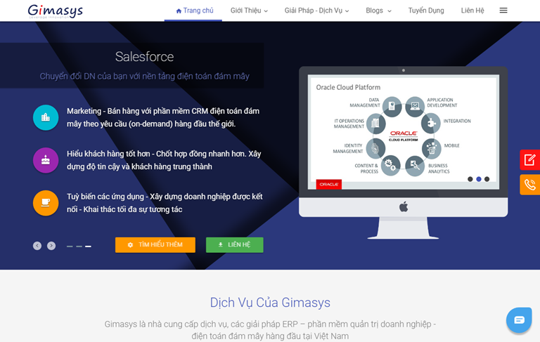 Gimasys Business Services Landing Page Blogger Template