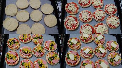 hamburger ekemğinden pizza yapımı