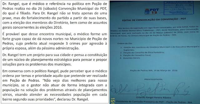 CONVENÇÃO DO PDT EM POÇÃO DE PEDRAS TEM AS ELEIÇÕES MUNICIPAIS COMO ALVO.
