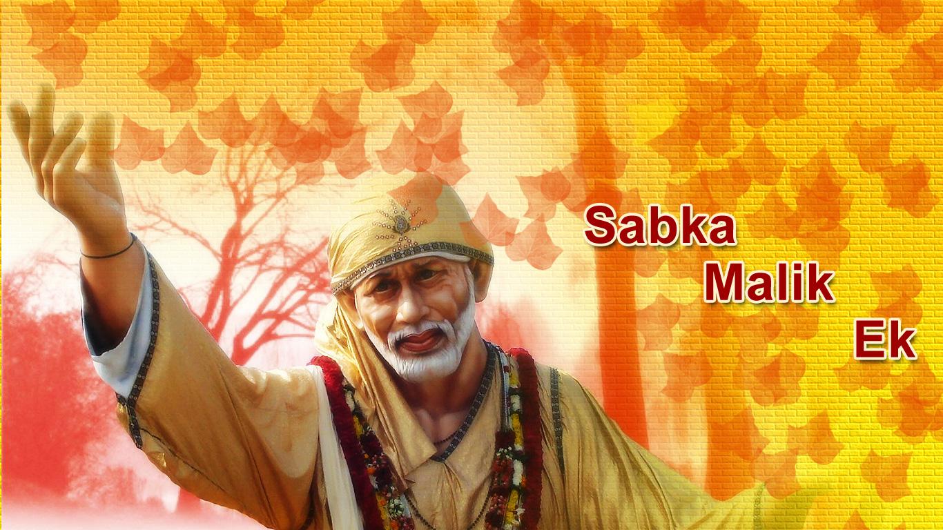 Sai Baba Sabka Malik Ek HD wallpaper for download
