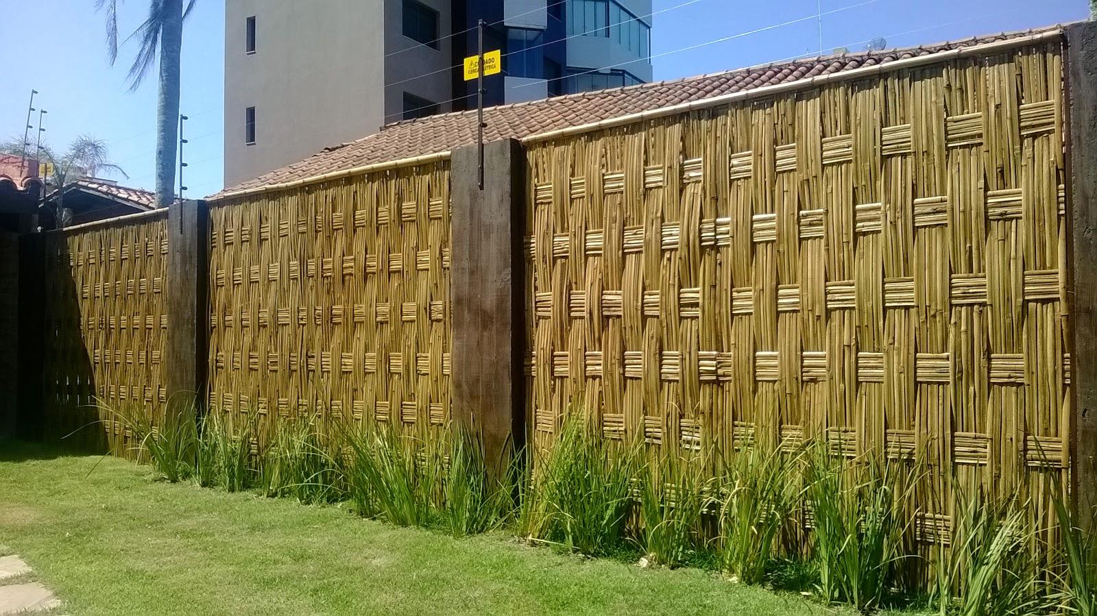 Cercas de bambu bambu tramado for Cerca b b