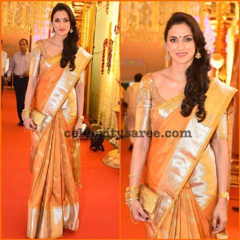 Shilpa Reddy wearing her Own Design