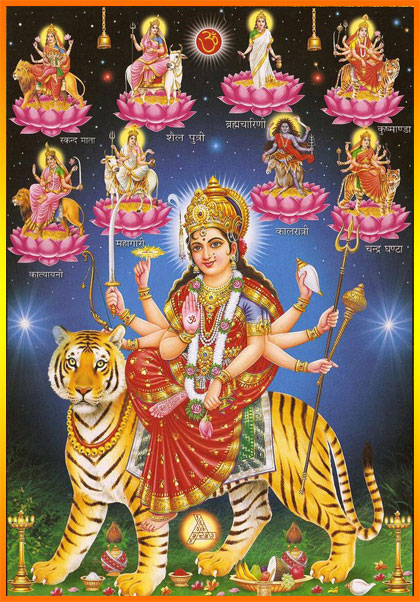 Jai Mata Di Hd Wallpaper The Nav Durga Ma Durga Has Nine Forms Hindupath