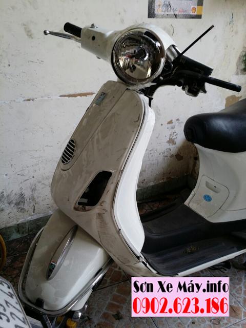 Nhận tân trang sửa chữa sơn xe Vespa bị sự cố tai nạn