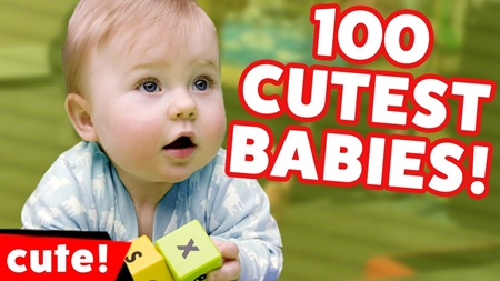 Top 100 Cutest Babies Reactions, Sounds & Bloopers 2017