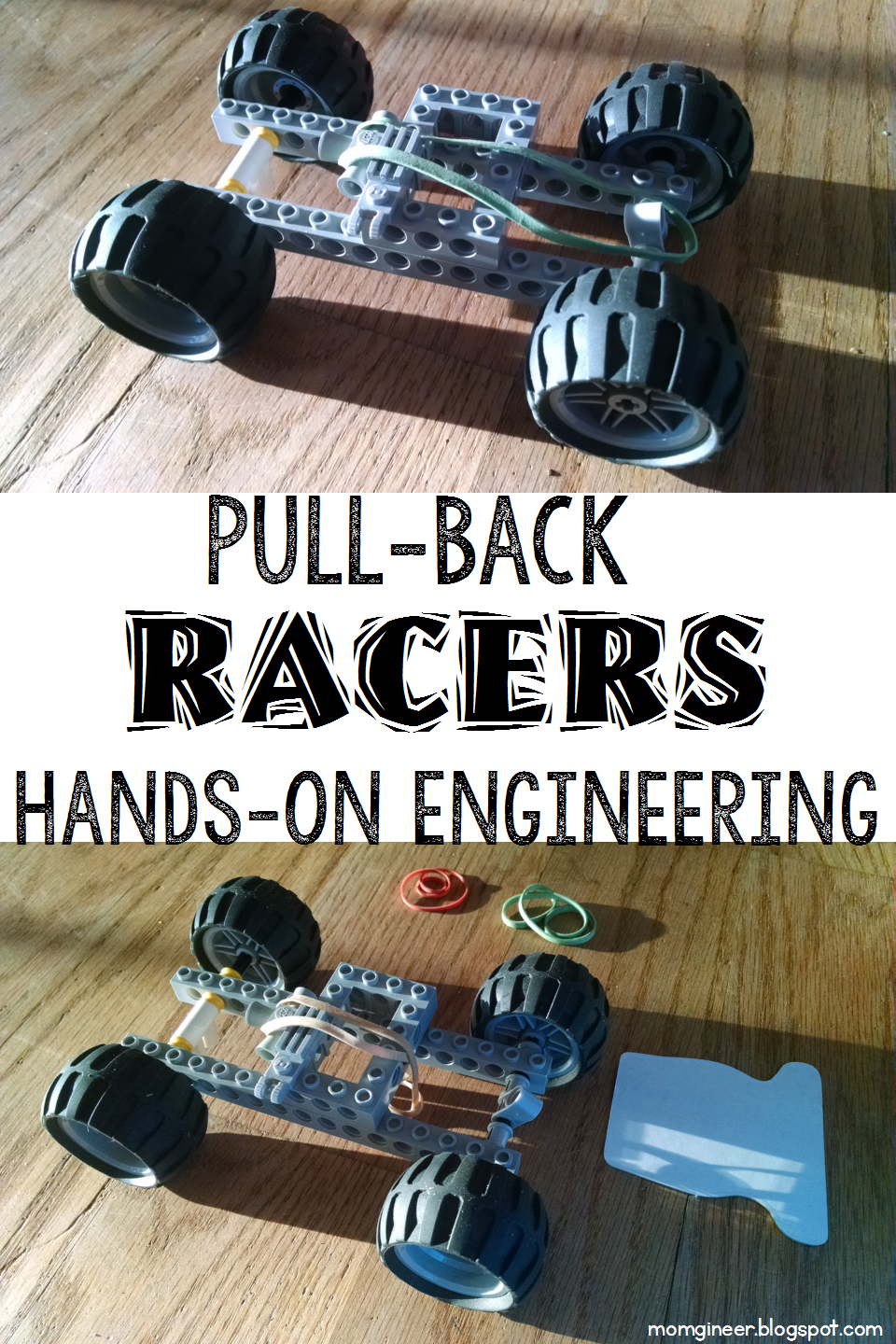 LEGO pull back racer engineering