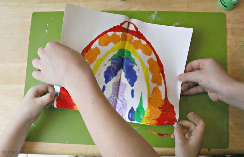 Blotto Rainbow Painting