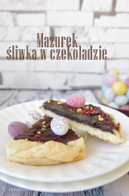 """Mazurek """"śliwka w czekoladzie"""""""
