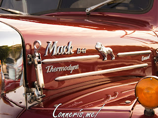 Mack B61 Thermodyne Diesel Driver-side Hood Details