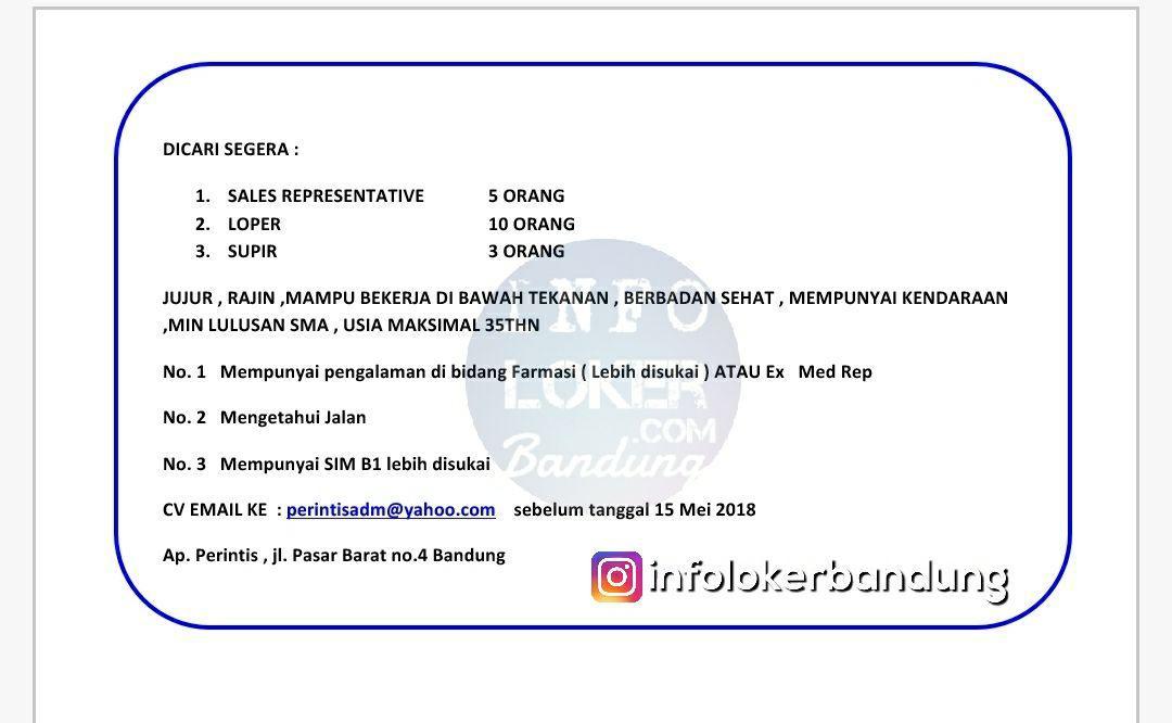 Lowongan Kerja Apotek Perintis Bandung April 2018