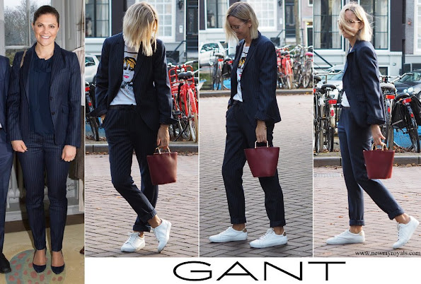 Crown Princess Victoria wore Gant Blazer and Trousers