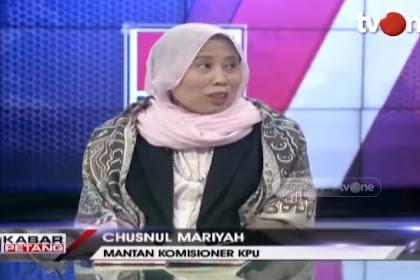 Mantan Komisioner KPU Chusnul Mar'iyah: Human Error Salah Entry C1 di Web KPU Kok Cuma 02 Yang Kena