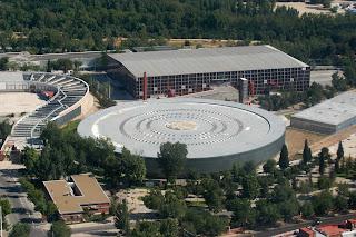 Imagen aerea de la casa de campo de madrid