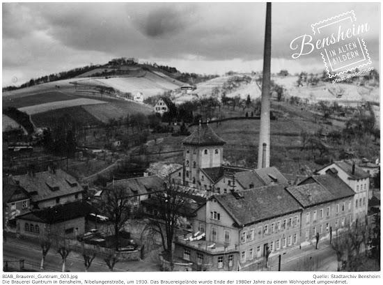 Brauerei Guntrum, Stadtarchiv Bensheim, Retusche: Stoll-Berberich 2016