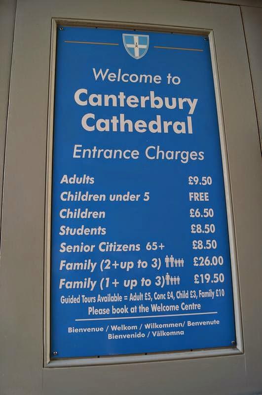 Precios Catedral de Canterbury