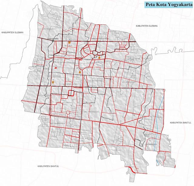 Peta Kota Yogyakarta HD