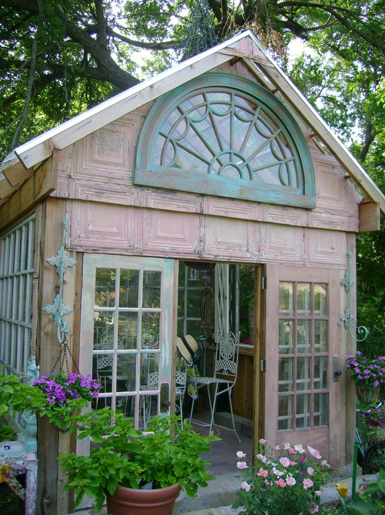 Dishfunctional Designs Greenhouses Made With Salvaged Windows