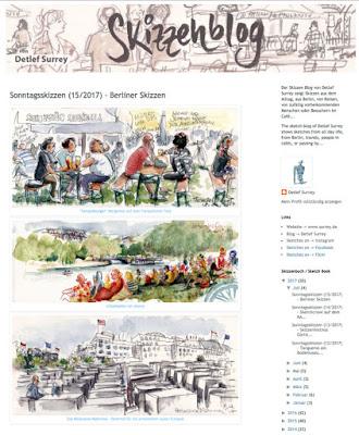 Sonntagsskizzen auf Detlef Surreys Skizzenblog