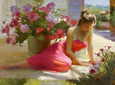 Resultado de imagen de pinturas de mujeres hermosas