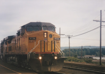 Union Pacific C44-9W #9736 in Vancouver, Washingon, on July 13, 1997
