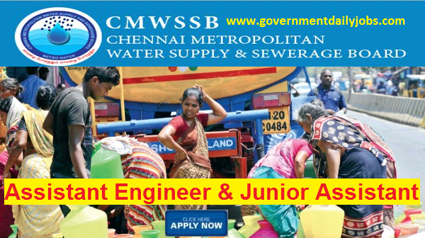 CHENNAI METRO WATER RECRUITMENT 2017 CMWSSB 322 AE JR