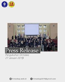 (PRESS RELEASE PENGUKUHAN ORMAWA IPB)