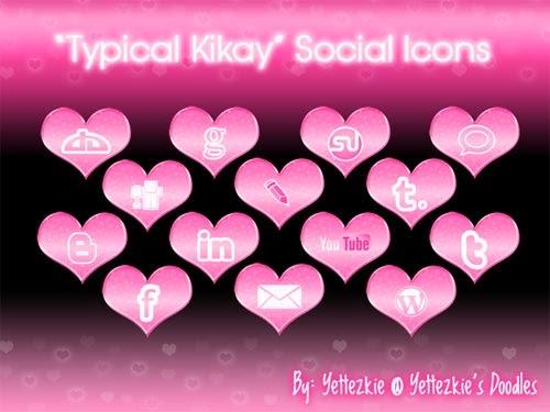 """""""Typical Kikay"""" Social Icons"""