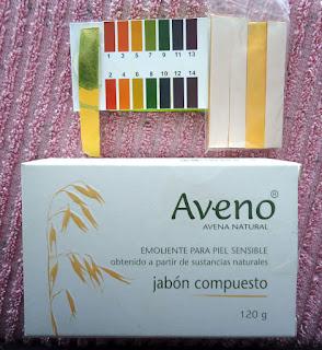 pH jabon en barra Aveno