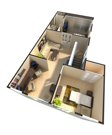 3D Floor Plan  Custom Of Rendering Studio 4