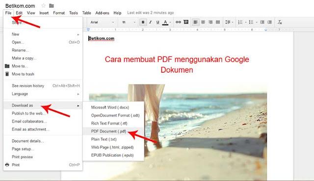 Cara membuat file pdf menggunakan google doc