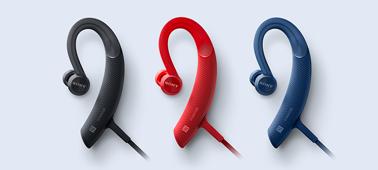 Sony MDR-XB80BS - Red, Black, Blue