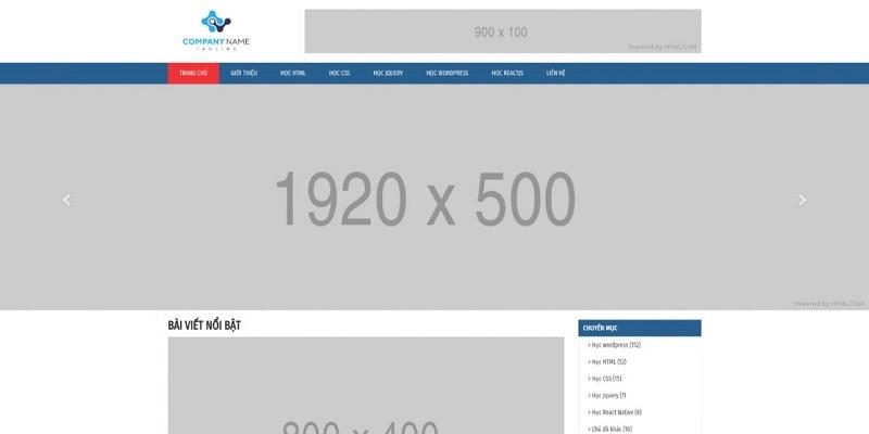 Chia sẻ template HTML website blog đơn giản cho thiết kế
