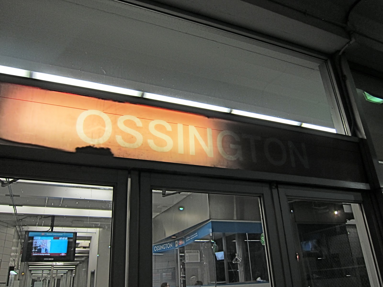 Ossington main entrance sign