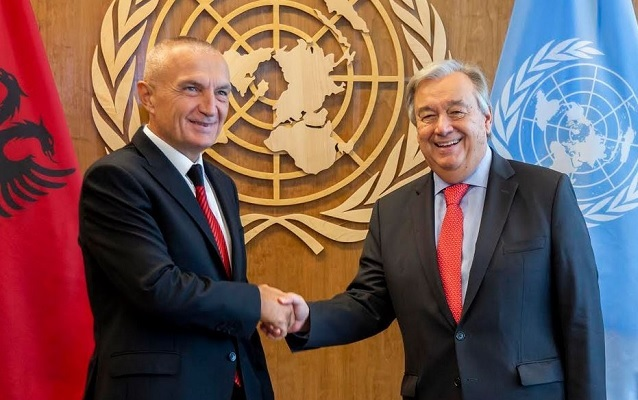 Meta meets UN Secretary António Guterres, expressing Albania's intention to be a member of the SC