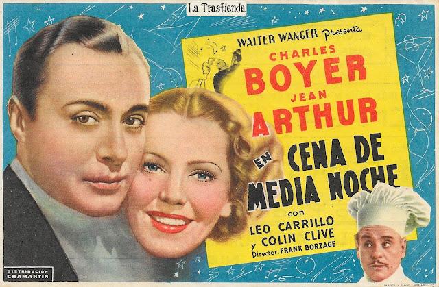 Programa de Cine - Cena de Media Noche (1944) - Charles Boyer - Jean Arthur