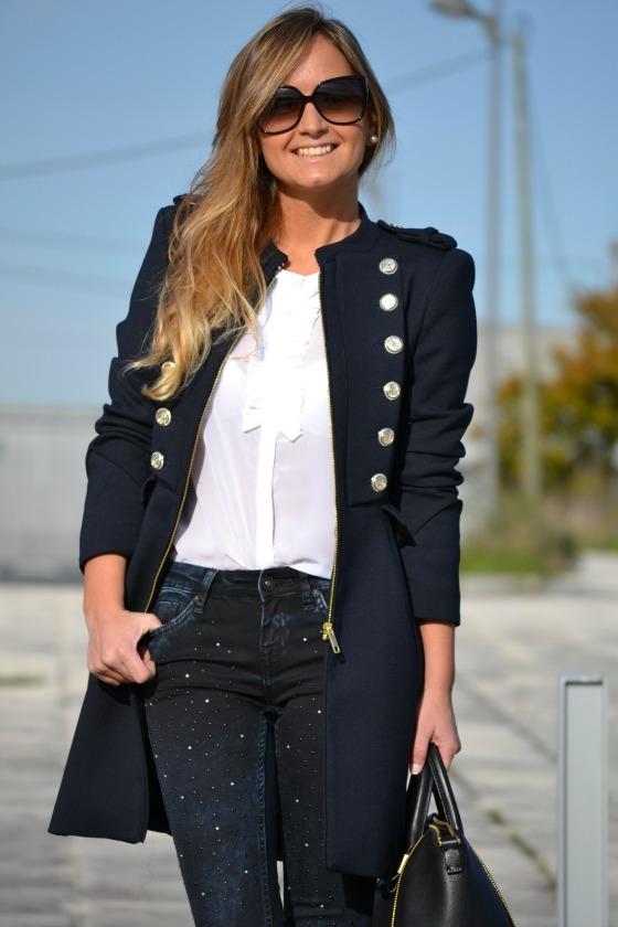 Negro Zara Marino Abrigos W5aitauq Azul Plumas Mujer H07qatcw 2f83ce86d13a