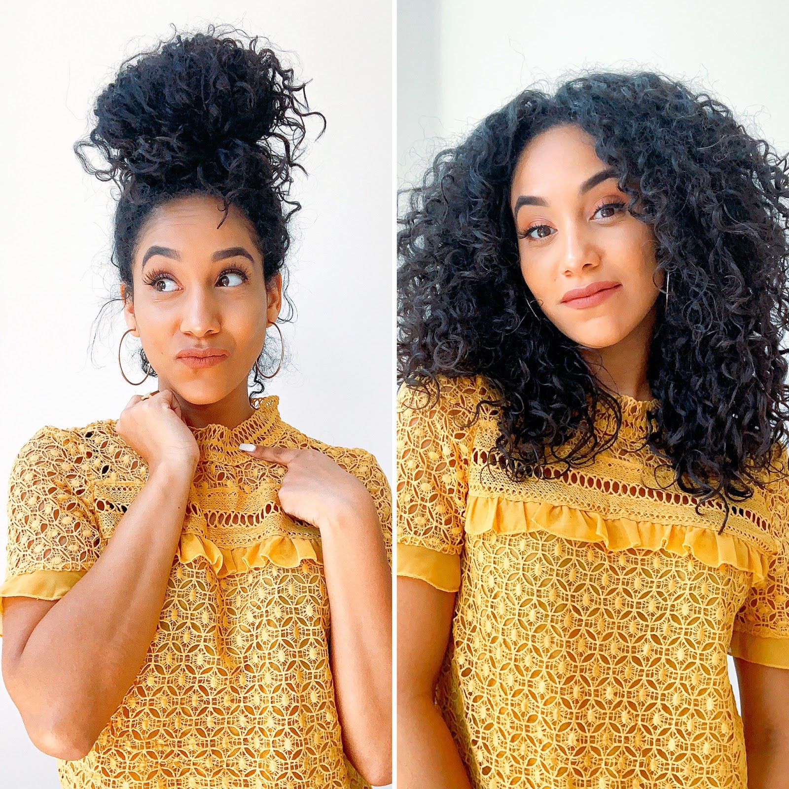 before-after-refresh-curls-morning-routine