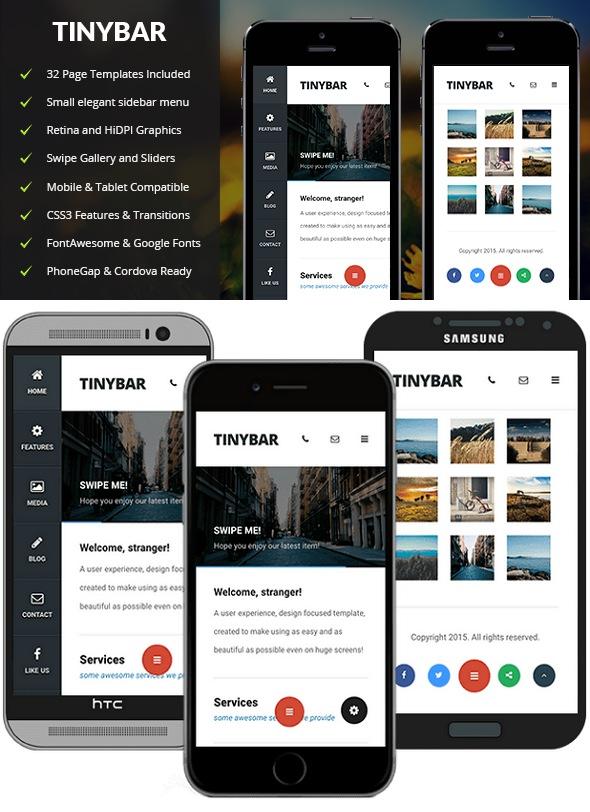 Free premium mobile template