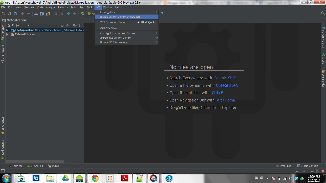 Android Development: Android Studio: How to push your code