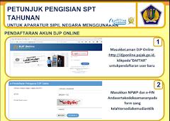Kartu Petunjuk Pedoman Pengisian SPT Tahunan Melalui e-Filing