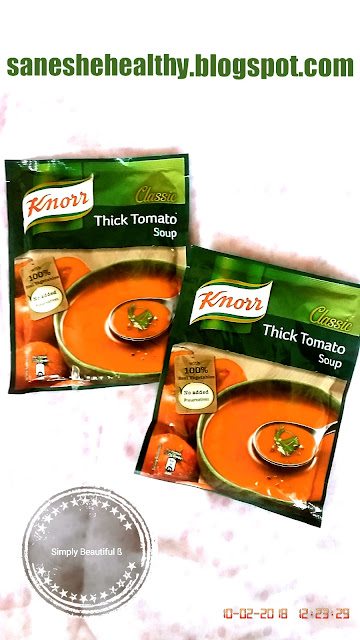 Ready to made Knorr Classic Thick Tomato Soup.