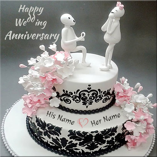 Happy Anniversary Cake Wallpapers for Couples