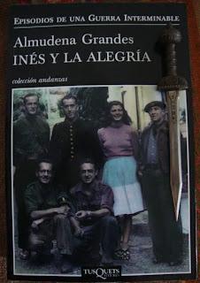 Portada del libro Inés y la alegría, de Almudena Grandes