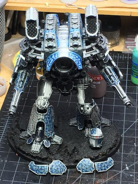 Legio Tempestus Warlord Titan for Adeptus Titanicus WIP